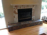 Fireplace Hearth Retiled