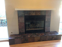 Fireplace Hearth & Surround Tiling Completed